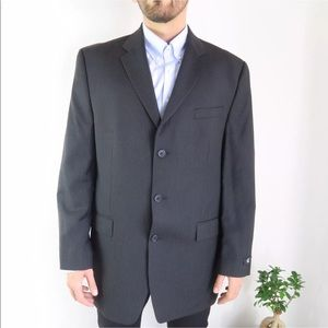 COPY - Calvin Klein Black  Long Sport Coat Jacket